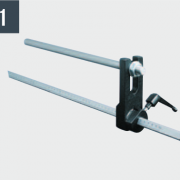 Упор для регулировки длины обработки с миллиметровой шкалой 0-600 мм